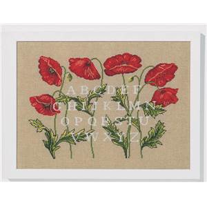 ABC coquelicots (kit) - Marie Coeur