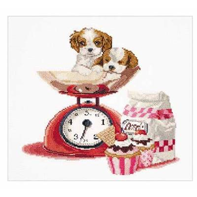 Cupcake Puppy - Kit point de croix - Thea Gouverneur