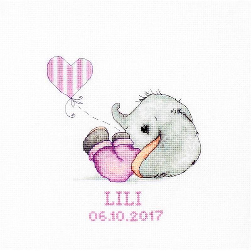 Kit Baby Girl point de croix - Luca-S B1133 - Univers Broderie
