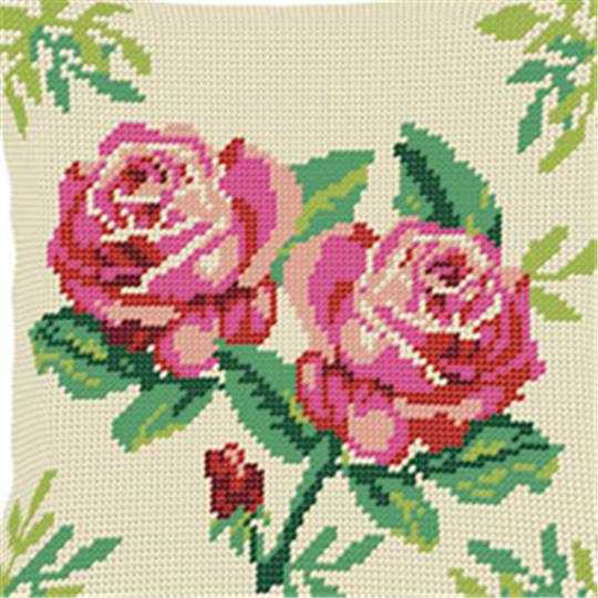 Roses - Kit coussin gros trous - Luc Créations