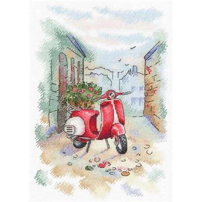 Italian Vespa - Kit point de croix - Aquarelle MP Studia