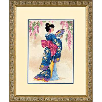 Elegant Geisha - Kit point de croix - Dimensions