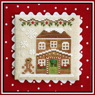Gingerbread Village  - Gingerbread House 5 (grille + bouton) - CCN