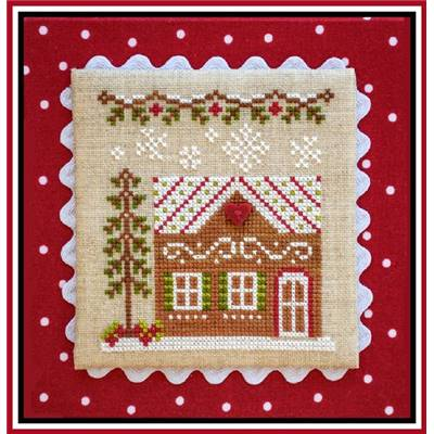 Gingerbread Village  - Gingerbread House 7 (grille + bouton) - CCN