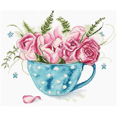 A Cup of Roses - Kit point de croix - LETISTITCH