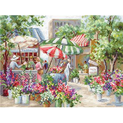Flower Market - Kit point de croix - LETISTITCH