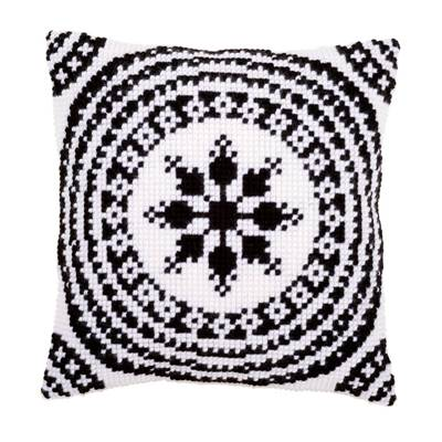 Ambiance Noir/Blanc - kit Coussin gros trous - Vervaco