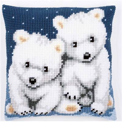 Oursons polaires - kit Coussin gros trous - Vervaco