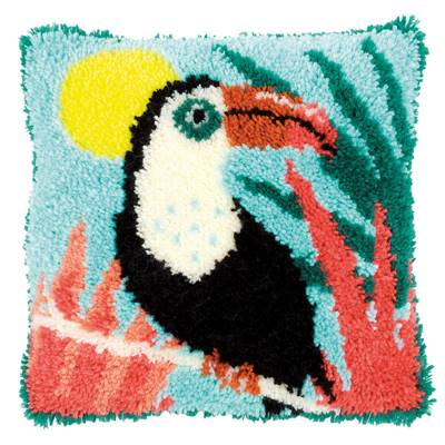 Coussin point noué Toucan - Vervaco
