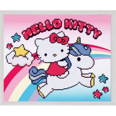 Hello Kitty avec Licorne  - Kit Broderie Diamant - Vervaco
