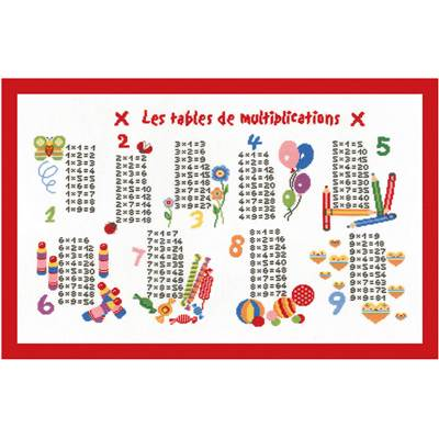 Les Multiplications - Kit point de croix - Princesse