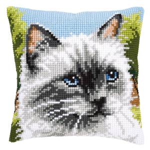 Coussin point de croix Chat siamois - Vervaco
