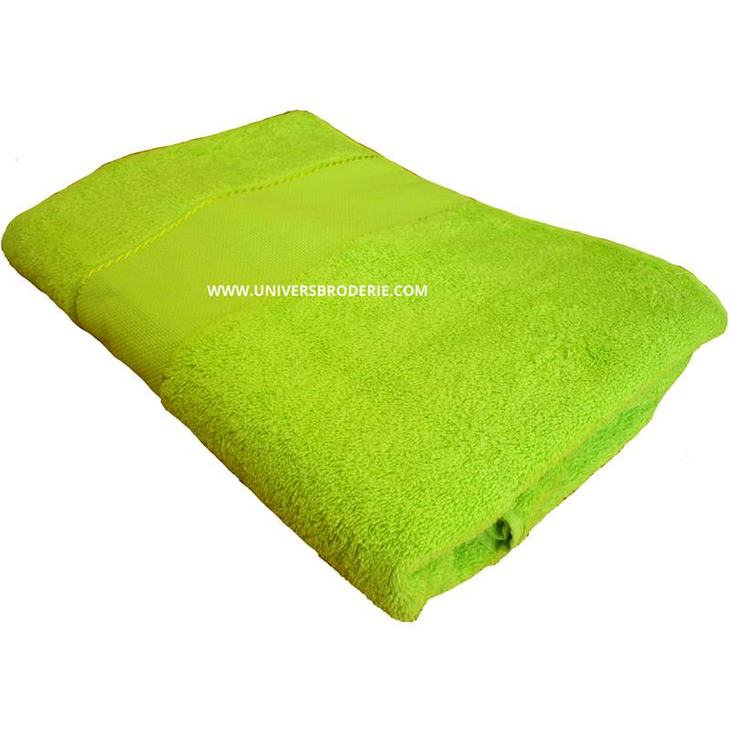 eponge broder drap de bain 70x140 cm vert pistache univers broderie. Black Bedroom Furniture Sets. Home Design Ideas