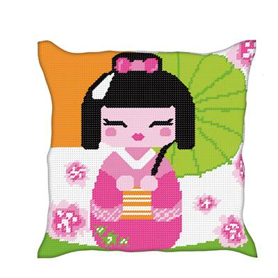 Kokeshi - Kit coussin gros trous - Luc Créations