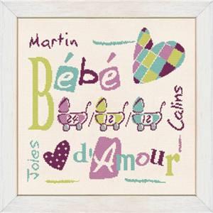 Fiche point de croix Lilipoints Bébé d' Amour B005