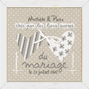 Fiche unis par les liens sacr s du mariage m012 de - Point de croix mariage grilles gratuites ...