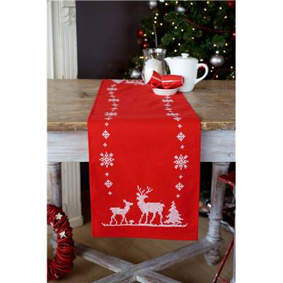 Chemin de table broder chez univers broderie - Chemin de table de noel ...