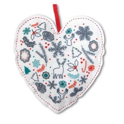 Coeur de Noël - Kit broderie traditionnelle - Princesse