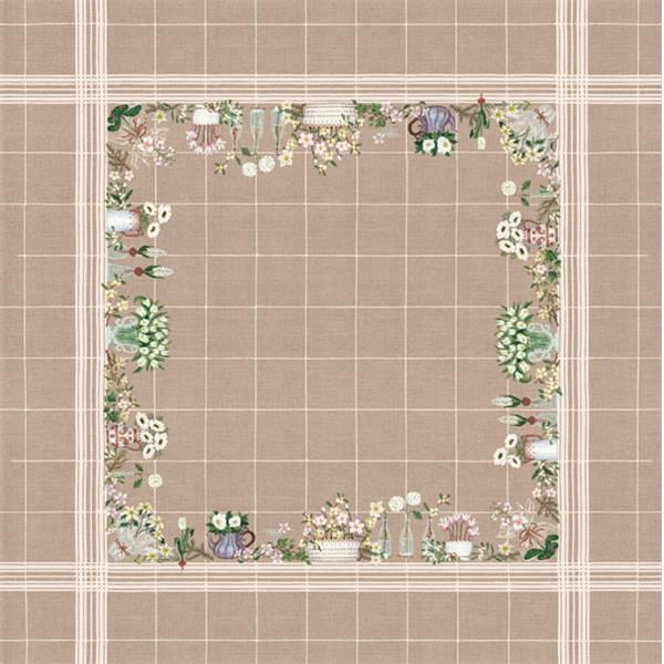 le bonheur des dames nappe d cembre en fleurs 6019 chez univers broderie. Black Bedroom Furniture Sets. Home Design Ideas