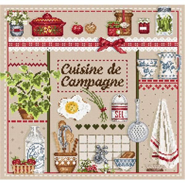 Madame la f e cuisine de campagne fiche point de croix chez univers broderie - Modele cuisine campagne ...