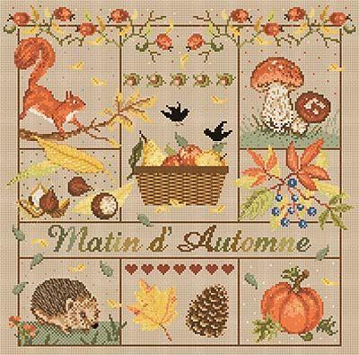 Grille kit matin d 39 automne grille ou kit de madame la f e - Image automne gratuite imprimer ...