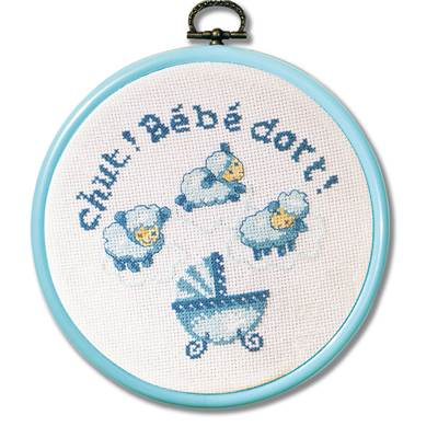 Kit broderie princesse chut b b dort 5656 chez univers for Chut bebe dort pancarte