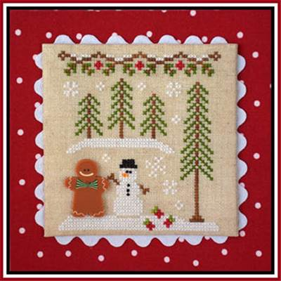 Gingerbread Village 7 - Gingerbread Boy And Snowman (grille + bouton) - CCN