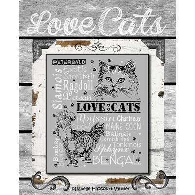 Love Cats 2 - Fiche Point de Croix - Isabelle Haccourt Vautier