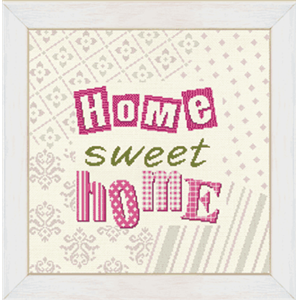 Home Sweet Home - Fiche point de croix W003 - Lilipoints
