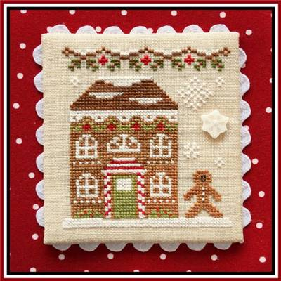 Gingerbread Village 8 - Gingerbread House 8 (grille + bouton) - CCN
