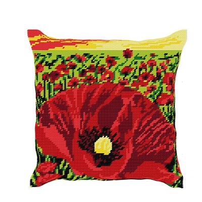 Coquelicots - Kit coussin gros trous - Luc Créations