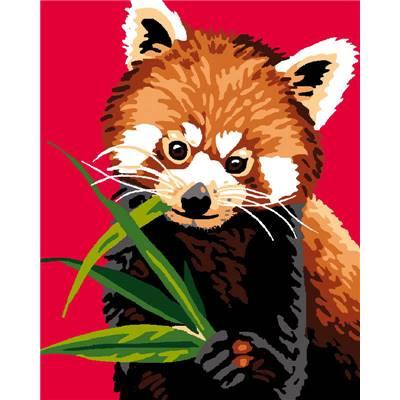 Kits canevas pour enfants broder luc cr ations chez - Panda roux dessin ...