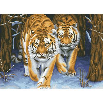 Les Tigres - Point de croix imprimé - Needleart World
