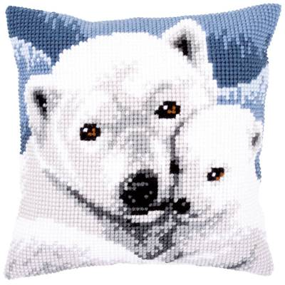 Ours Blanc - kit Coussin gros trous - Vervaco