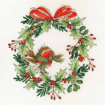Robin Wreath - Kit Noël - Bothy Threads