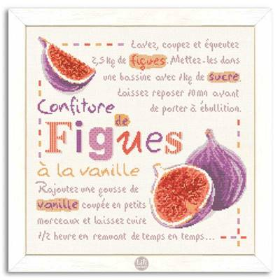 Confiture de Figues fiche point de croix G025 - Lilipoints