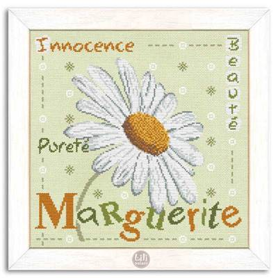 Marguerite - Fiche point de croix J004- Lilipoints