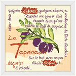 La Tapenade - Fiche point de croix - Lilipoints