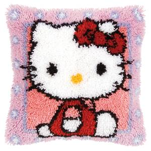 Coussin point noué Hello Kitty © - Vervaco