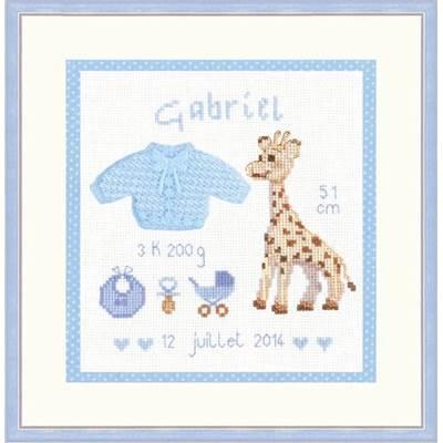 Kit Tableau De Naissance Gabriel 2627 Le Bonheur Des Dames Chez Univers Broderie