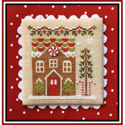 Gingerbread Village 3 - Gingerbread House 1 (grille + bouton) - CCN