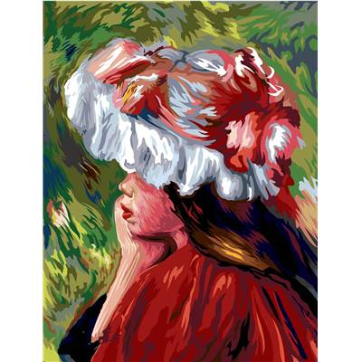 La Fillette au chapeau rouge de Monet canevas - Margot