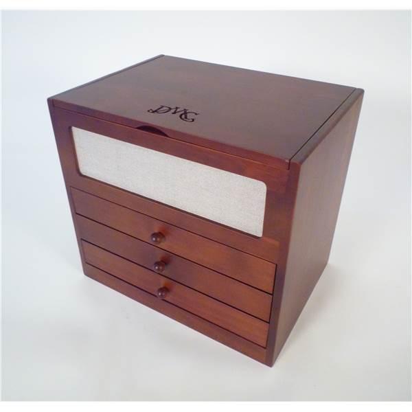 bo te de rangement en bois dmc 100 couleurs dmc 7200 chez univers broderie. Black Bedroom Furniture Sets. Home Design Ideas