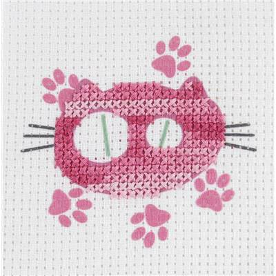 Chat Rose - Kit Enfant Aïda gros trous Age 6+ - DMC