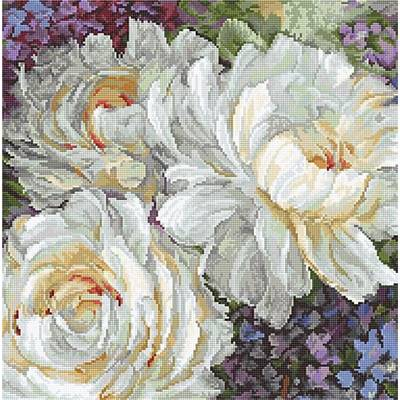 White Roses - Kit point de croix - LETISTITCH