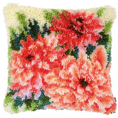 Coussin point noué Dahlias - Vervaco