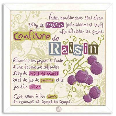 La Confiture de raisin - Fiche point de croix G014 - Lilipoints
