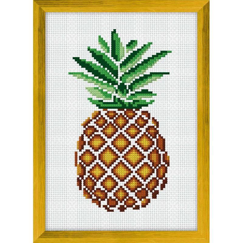 luc cr ations ananas kit point de croix univers broderie. Black Bedroom Furniture Sets. Home Design Ideas