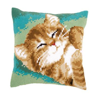 Chat - kit Coussin gros trous - Vervaco