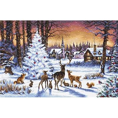 Christmas Wood - Kit point de croix - LETISTITCH